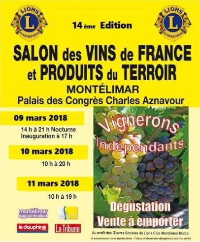 Morgon Mathon présent au 14e salon des vins de montelimar